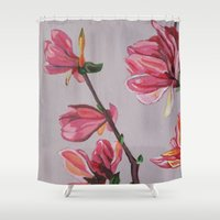 magnolia Shower Curtains featuring Magnolia by Marjolein