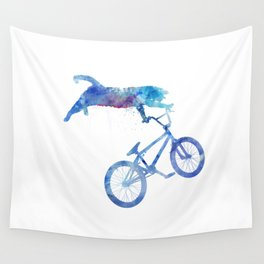 BMX Cat Wall Tapestry