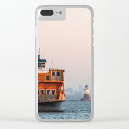 Lighthouse & Staten Island Ferry Clear iPhone Case
