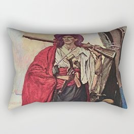 """""""Handsome Buccaneer"""" by Howard Pyle Rectangular Pillow"""