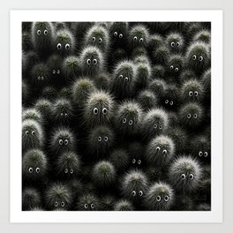 Plants with eyes: the crowd Art Print