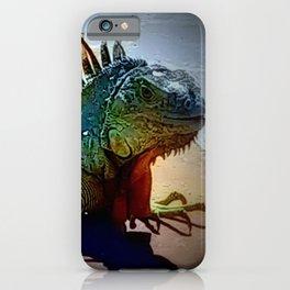 Isolation Iguana iPhone Case
