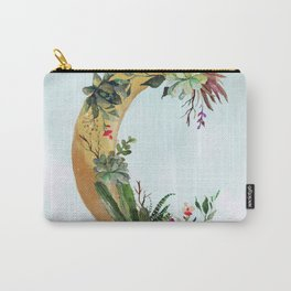 Succulent Moon Carry-All Pouch