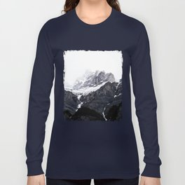 Moody snow capped Mountain Peaks - Nature Photography Long Sleeve T-shirt