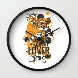 Classical Music Lover Wall Clock