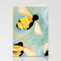 bees Stationery Cards featuring Bees by Claire Whitehead