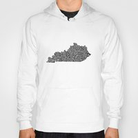 kentucky Hoodies featuring Typographic Kentucky by CAPow!