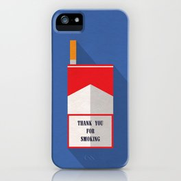 Thank You For Smoking Minimalist iPhone Case