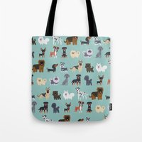 german Tote Bags featuring GERMAN DOGS by DoggieDrawings