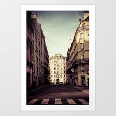 Parisian Side Street Art Print