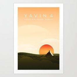 Outer Rim Travel Bureau: Yavin 4 Art Print