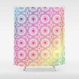 Circle Fretwork rainbows Shower Curtain