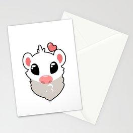 Dark Eyed White Stationery Cards
