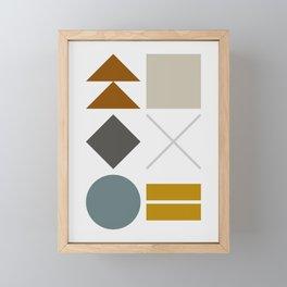 Mid West Geometric 03 Framed Mini Art Print