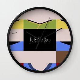To Boldy Go - Star Trek The Original Series TOS - startrek Trektangle Kirk Spock Bones Minimalist Wall Clock