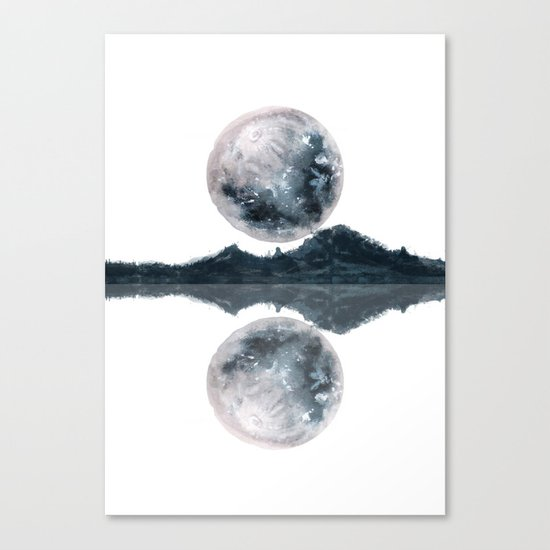 Caught Between the moon Canvas Print