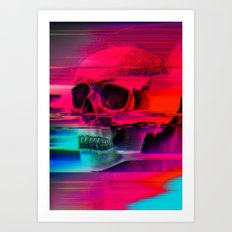 Mortality Glitch Art Print