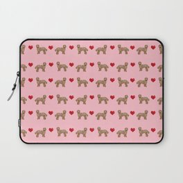 Labradoodle valentines day hearts dog breed pet pattern labradoodles Laptop Sleeve