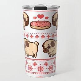 Puglie Christmas Sweater (Red) Travel Mug