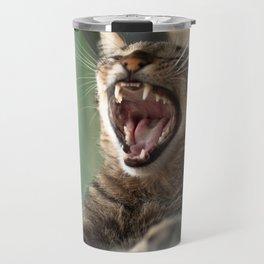 Yawning Cat Travel Mug