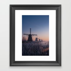 Sunrise at Kinderdijk II Framed Art Print