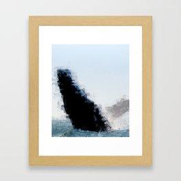 Whale Breach Framed Art Print