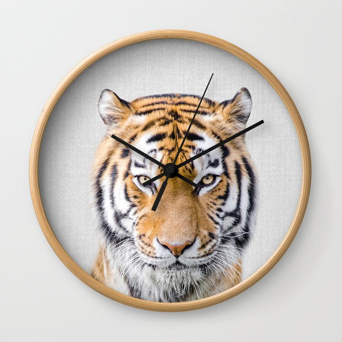 Tiger - Colorful Wall Clock