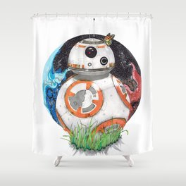 Space Exploration Shower Curtain