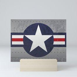 U.S. Military Aviation Star National Roundel Insignia Mini Art Print