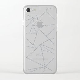 Abstract Dotted Lines Grey Clear iPhone Case