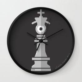 king eye b&w Wall Clock