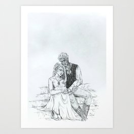 Aelin and Rowan Art Print