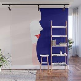Joni Mitchell (minimal, blue) Wall Mural