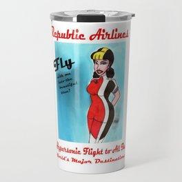 Barbara of Republic Airlines Travel Mug