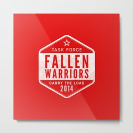 Task Force Fallen Warriors - Carry the Load 2014 Metal Print