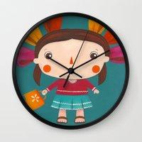 lolita Wall Clocks featuring Lolita by Gabriela Granados