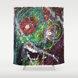 Fear Equals Rage Shower Curtain