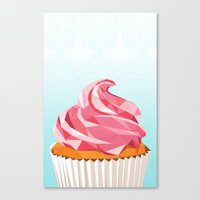 cupcake Canvas Prints featuring Cupcake by kalieda