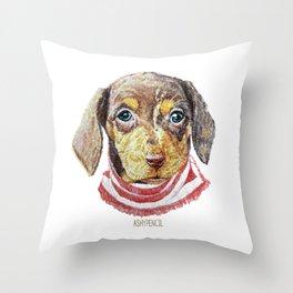 Chase_Dachshund Throw Pillow
