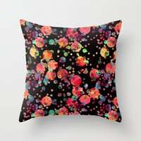 confetti Throw Pillows featuring Confetti by Schatzi Brown