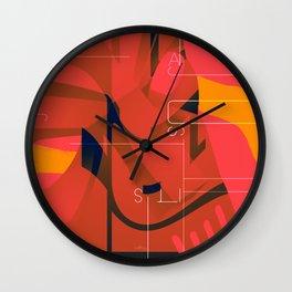 PNLP red Wall Clock