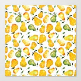 Sweet pears Canvas Print