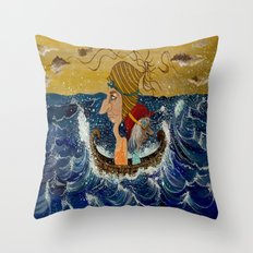 Weary Voyage Throw Pillow