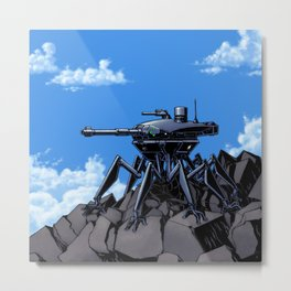 Mountain Sentinel Think Tank Metal Print