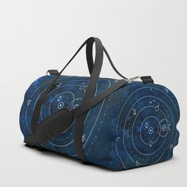 Planets Symbols on Nightsky Duffle Bag
