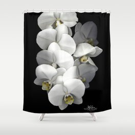 Jessica's Orchids Shower Curtain