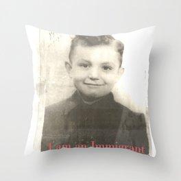 I man Immigrant Throw Pillow