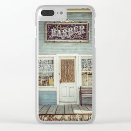 Rand Barber Shop Clear iPhone Case