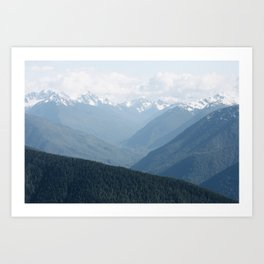 Olympic Mountains Art Print