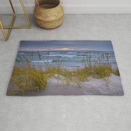 Lake Michigan Dune with Beach Grass at Sunset Rug